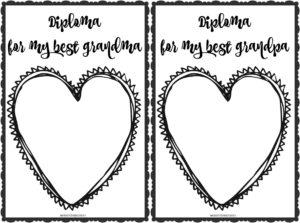 Dyplomy dla najlepszej babci i dziadka do wydruku
